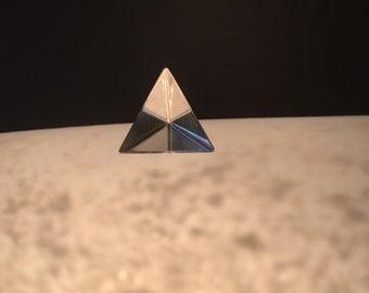 Clear Quartz Tetrahedron - Crystal - Sacred Geometry - Triangle