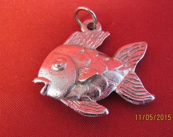 FISH PENDANT in Faux Silver