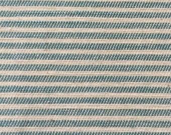 Aqua Ticking Stripe