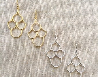 Elegant Chandelier Earrings - Available in Gold or Silver