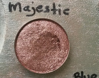 Majestic - loose eye shadow, pigment, 5 or 10 gram sifter jar or pressed eye shadow, 26 mm round magnetic pan