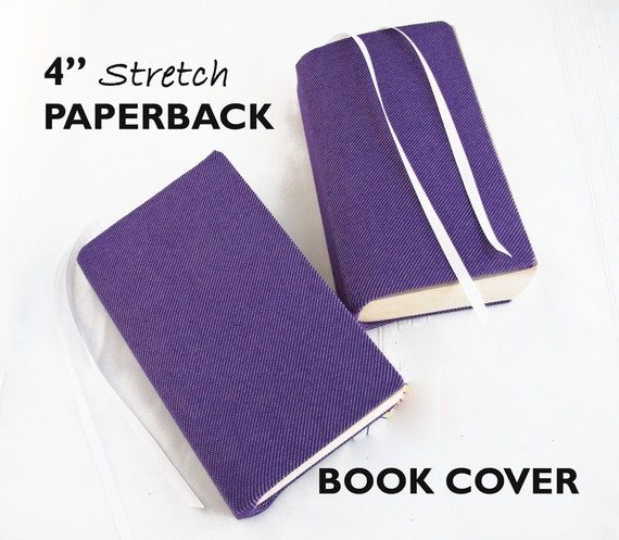 Book Cover Material Suppliers : Stretch paperback book cover purple denim by sewingtheabcs
