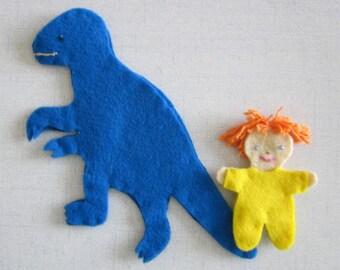 kids toys-- Baby and Dinosaur -- felt toys