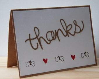 10 Dog Thank You Cards.  Dog Bone Thank you Cards.  Dog Groomer Thank You Card.  Dog Sitter Thank You. Veterinary Office Card