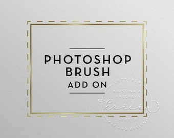 Photoshop brush add on, Logo Watermark Photoshop brush, Logo photoshop brush file, Photography logo photoshop brush, Logo Add on