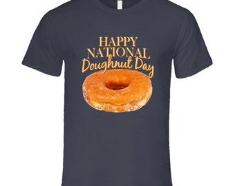 Happy National Doughnut Day Fun Celebration T Shirt