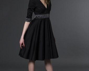 Art Déco V Cut Swing Dress