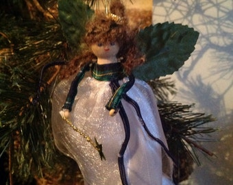 Christmas Fairy in white and greens