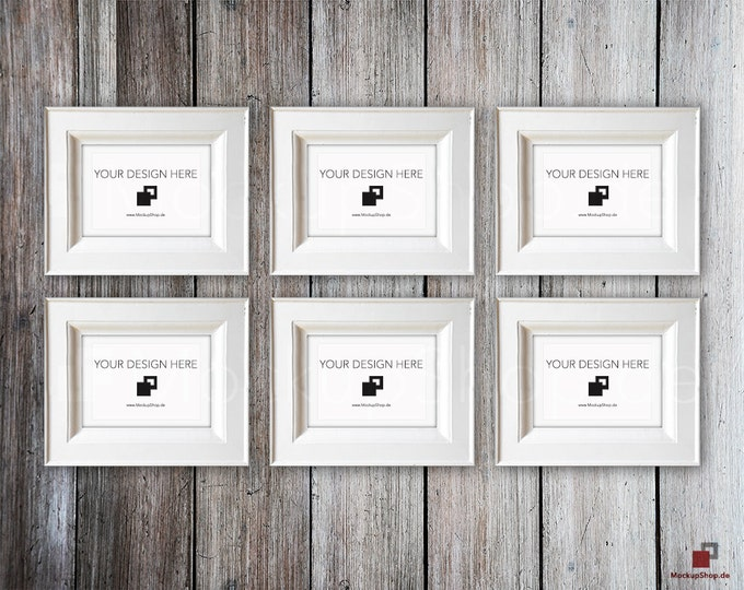 VINTAGE FRAME MOCKUP, Din A5, old white Frame Mockup, Empty Frame Mockup in Vintage Stil, Old Vintage Frame Mockup, Vertical Vintage