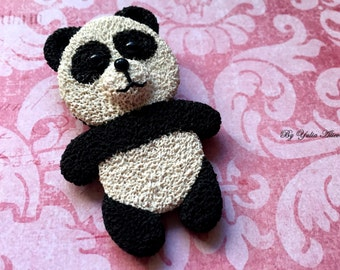 Panda brooch, Polymer jewelry, Jewelry Animals,  Animals brooch,  Polymer clay brooch, Polymer clay animal jewelry,