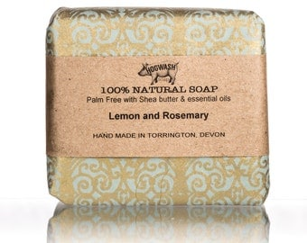 Lemon Rosemary Soap, Palm free, Shea Butter, Handmade, Natural soap. cold process, handmade soap bar, gifts for her, Natural skincare,