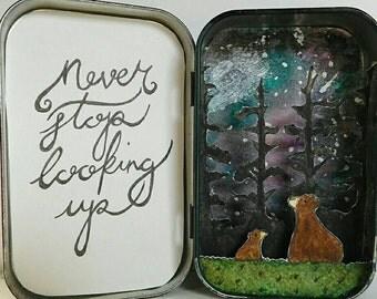 Stargazing Bears - a paper diorama.