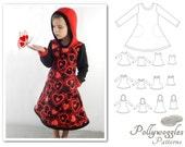 "Fleece Dress & Tunic Pattern - ""Autumn Grace"" - 1-10Y PDF - includes Expansion Pack"