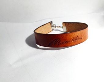 Tan Veg Leather Bracelet