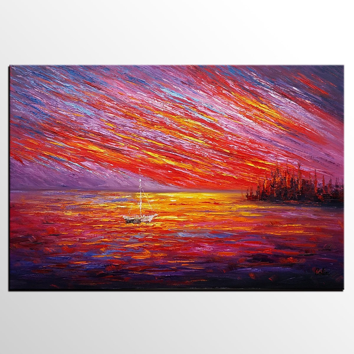 Extra Large Art Original Art Landscape Painting Canvas Art