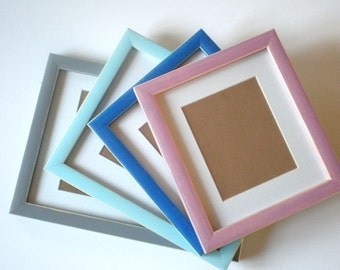 Photo frame 8x10 colorful frame 20x25 cm crafts delicate frame CHOOSE Colour frame rustic wall decor home decor housewares RusticFrameShop