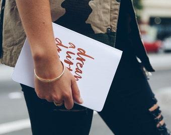 Soft Cover Bucket List- White + Gold|| MiGoals x Bianca Cash