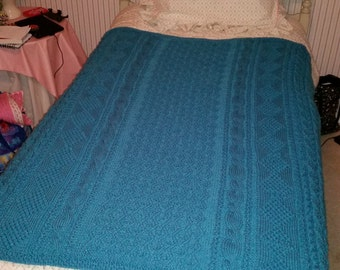 Aran Cable Knit Blanket