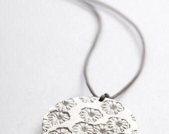 """Poppy"" Silver Pendant"