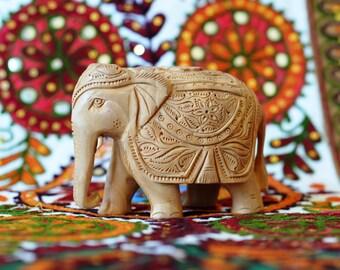 Indian Elephant, hand carving Elephant statue figurine