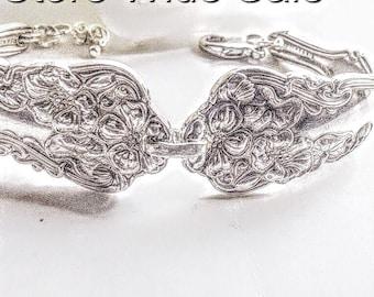 Spoon bracelet, Vintage Spoon jewelry, Antique Spoon Bracelet,Silverware Bracelet, Antique  Silver Spoon Jewelery, Silver Bracelet