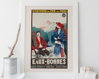 France Travel Poster Vintage Art Deco Poster Giclee Ribba French Poster Vintage French Print Provence Kitchen Art Wall Art