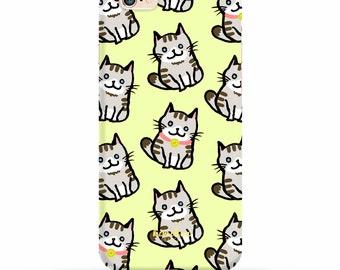 Cat iPhone Case, iPhone 6 Case, iPhone 6 Plus Case, Cute iPhone Case, iPhone 7 Case, iPhone 7 Plus case, Samsung case, 2 in 1 Case, S6 Case