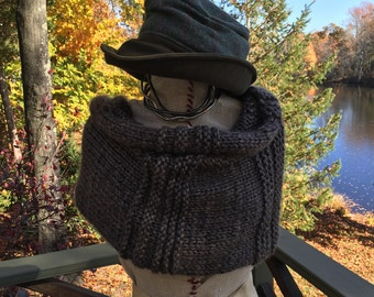 Outlander style chunky warm and fuzzy cowl