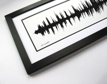 At Last: Sound Wave Art Print, Custom Lyric Design created from song