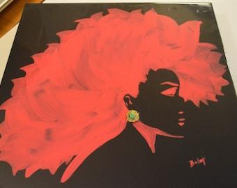 Gloria_Hot Pink on Black