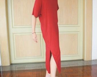 Super Comfy 100% Cotton Mid-Calf Maxi Length Loose Summer Dress