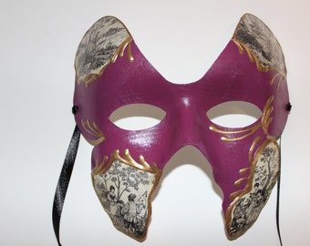 Butterfly mask with renaissance pictures