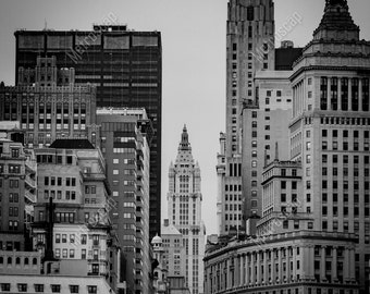 Black and White, New York City Photography, Woolworth Building, Fine Art Photography, NYC Pictures, Manhattan