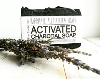 Activated Charcoal Soap, Charcoal Soap, Activated Charcoal, Tea Tree Soap, Detox Soap, Acne Soap, Organic Soap, Palm Free Soap, Cold Process