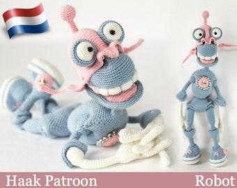 072NLY  Robot - Haak Patroon PDF file Amigurumi by Astashova Etsy