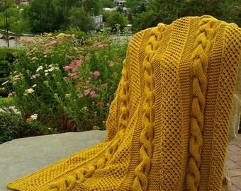 The Adair Afghan Knitting Pattern