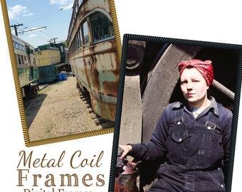 Metal Coil Frames, Rustic Frames,Instant download, PSD Template , Digital Frames for Photographers, Png Frames, Industrial frames