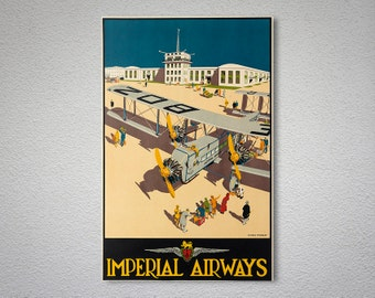 Imperial Airways, Vintage Travel Poster - Poster Print, Sticker or Canvas Print / Gift Idea