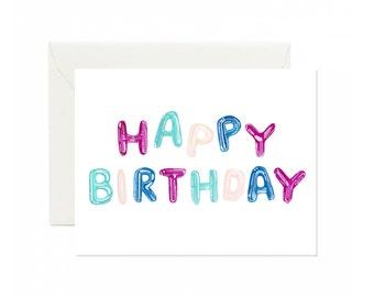 Happy Birthday Letter Balloon greeting card
