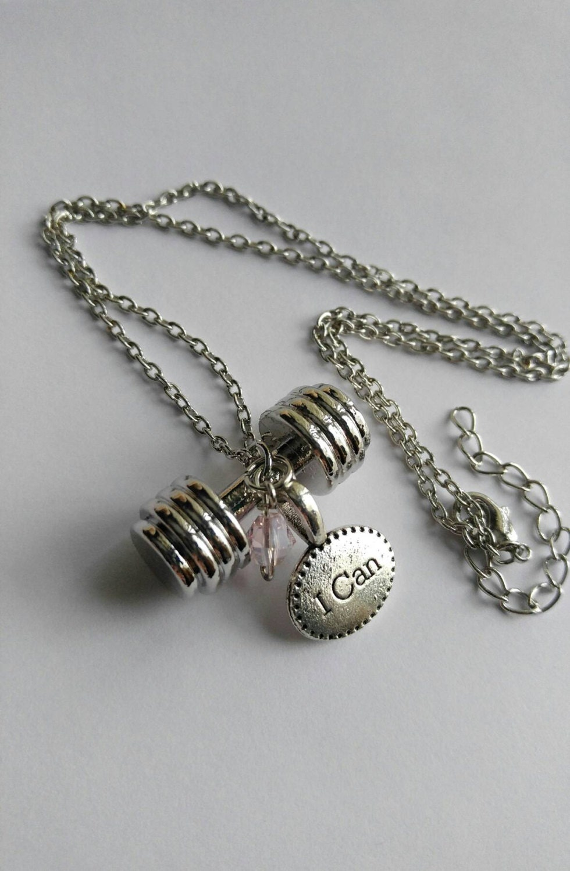 Workout jewelry Athletic jewelry inspirational necklace gym
