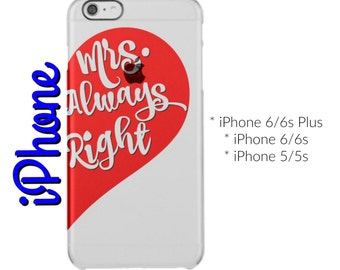 Mrs. Always Right Clear iPhone Case