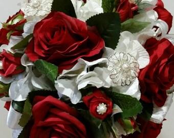 Bridal bouquet,  quinceanera bouquet,  floral bouquet,  bouquet,  red roses bouquet,  valentine's day wedding bouquet,  wedding bouquet