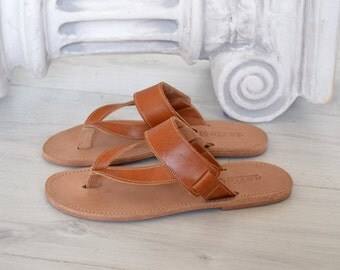 Men Sandals, Genuine Leather, Ancient Sandals, Handmade Sandals,  Flip Flop Sandals, Jesus Sandals, Men Flip Flop, Flip Flop, Greek Sandals