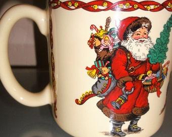 Vintage 1990 Kris Kringle Christmas Mug