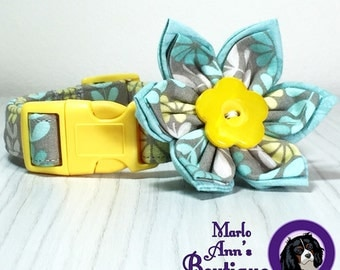 The Charlotte - Adjustable Dog Collar or Flower Set