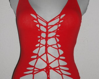 cut out, shirt  red ;)