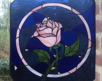 Beauty and the Beast inspired glass piece