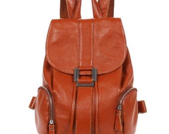 Large capacity leather backpacks, computer backpacks, schoolbags girl