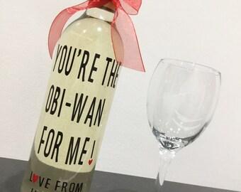 Personalised Wine Bottle & Glass