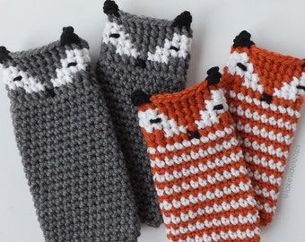 Crochet Pattern - Asher Fox/Animal Leg Warmer & Boot Cuff by Lakeside Loops (includes 5 sizes: Toddler to Adult)